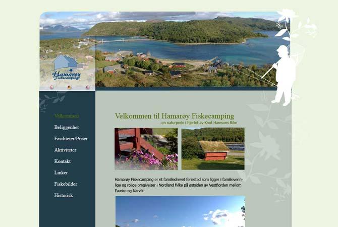Hamarøy Fiskecamping nettside