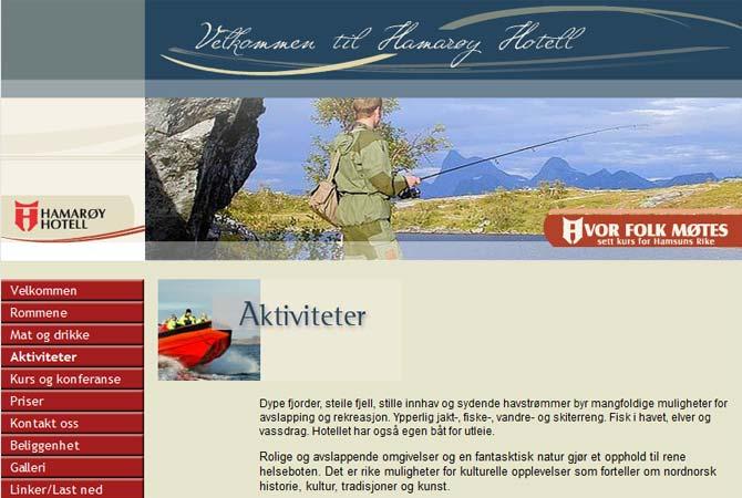 Hamarøy Hotell nesttside