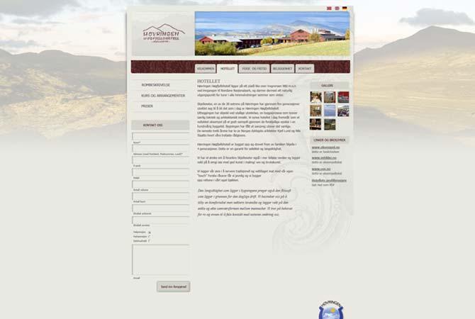 webside Høvringen Høgfjellshotell