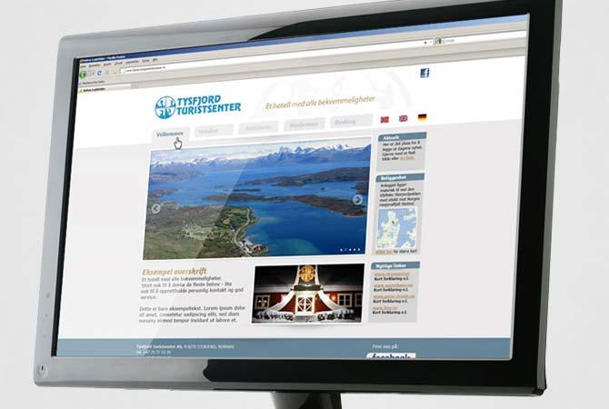 Tysfjord turistsenter nettside