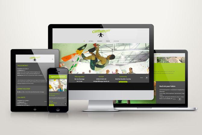 cliffhanger - webseite