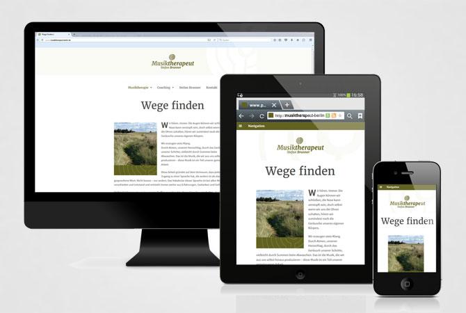 Musiktherapeut Brunner webside