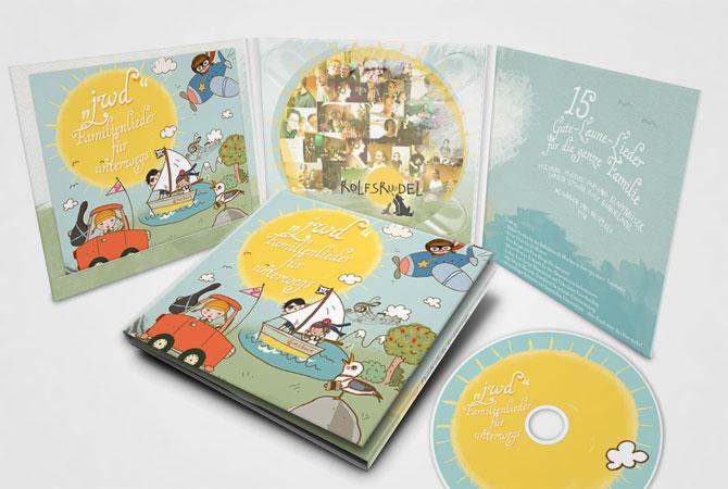 Familienlieder für unterwegs-CD-Design